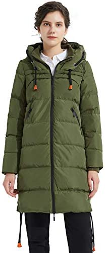 Orolay Women's Thickened Winter Down Coat Drawstring Hooded Puffer Jacket