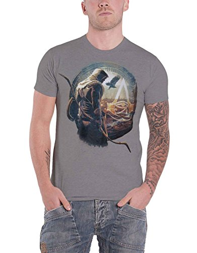 Assassins Creed T Shirt Classic Logo Faux Denim New Official Ps4 Xbox Mens Blue