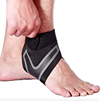 BeGrit Ankle Brace Compression Adjustable Support Sleeve Breathable for Running Football Rugby Sports for Joint Pain and…