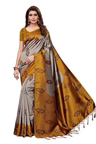 Anni Designer Art Silk with Blouse Piece Saree (Free Size)