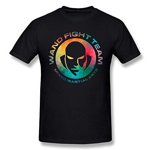 Jasmincc Men's Wanderlei Silva Wand Fight Team T Shirts Black X-Large ()