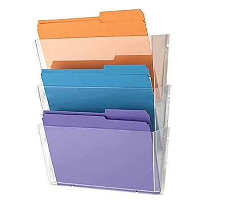 Black 7 Pocket Black 1InTheHome Expandable Wall Wall File Organizer Letter-Sized,7 Pocket