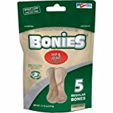 BONIES Hip & Joint Health Multi-Pack REGULAR Large Dogs 25 or More LBS - Natural Dog Treat - Low Calories - Chicken Flavor - 5 Bones