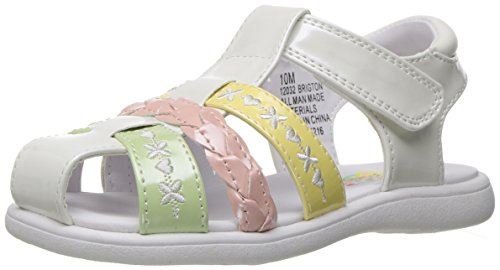 Rachel Shoes Girls' Brigton Fisherman Sandal, Multi Pastel, 7 M US Toddler