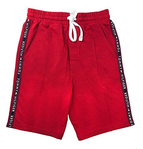 Logo Cotton Shorts - Tommy Hilfiger Men's Cotton Logo Jersey Lounge Shorts (Mahogany, Small)