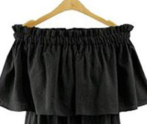 Due Vestire Lunghi Volant Lizes Un Modi Monospalla Usura Sexy Pezzo Black Moda E Di Abiti qq8X4w