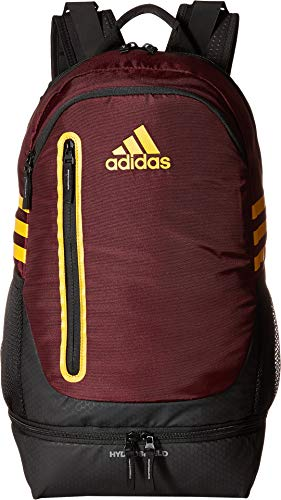 adidas Pivot Team Backpack, Maroon/Collegiate Gold, One Size ()
