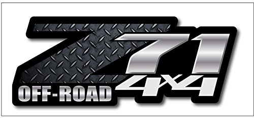 Black Diamond Plate Chevy Z71 4x4 Decals Set of Two GMC Off Road