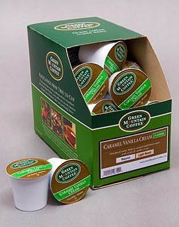 CARAMEL VANILLA CREAM Flavored Coffee --- by Green Mountain --- 1 box of 24 K-Cups