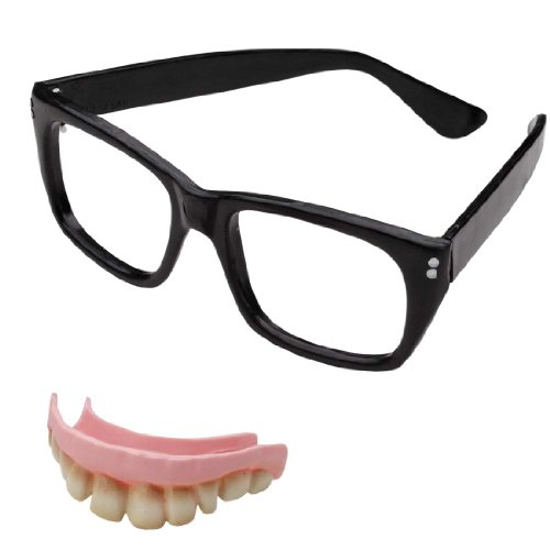 Austin Powers Costumes Accessory Kit (Austin Powers Costume Kit with Glasses and Teeth)