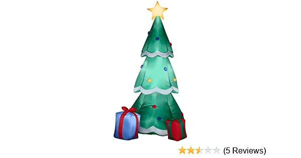 amazoncom gemmy airblown inflatable christmas tree decorated with ornaments and presents beside it indoor outdoor holiday decoration 66 inch tall - Aqua Christmas Tree