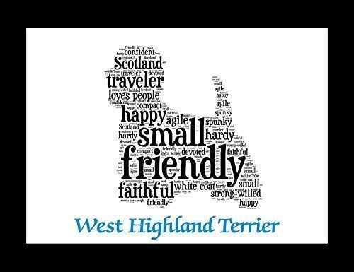 (West Highland Terrier Westie Dog Wall Art Print - Personalized Pet Name - Gift for Her or Him - 11x14 matted - Ships 1 Day)