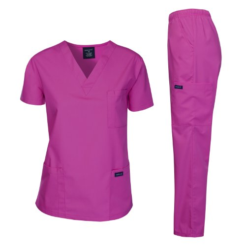 Dagacci Medical Uniform Women's Medical Scrub Set Top and Pant