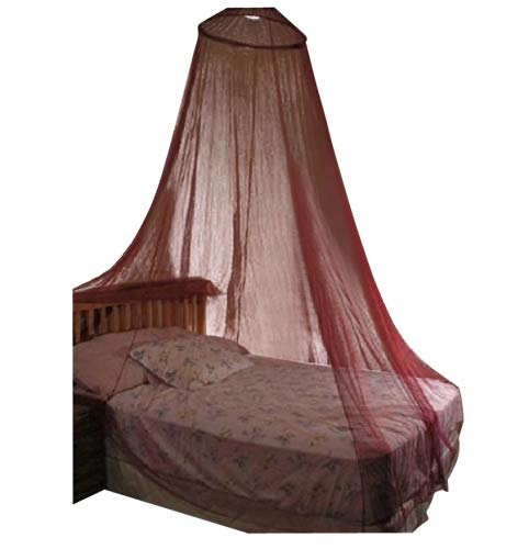 Octorose ® Round Hoop Bed Canopy Netting Mosquito Net Fit Crib, Twin, Full, Queen, King (Burgundy) Hoop-Burgundy
