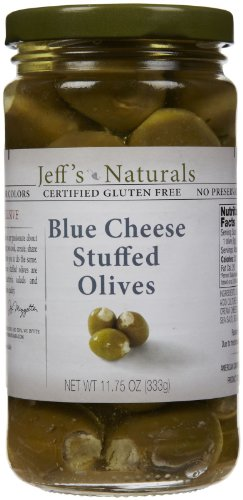 Jeff's Naturals Blue Cheese Stuffed Olives, 11.75 oz