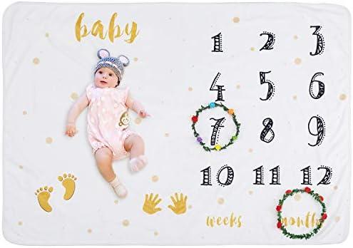 Amazon.com: UBBCARE - Manta de bebé con diseño de hito para ...