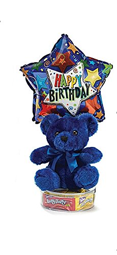 Happy Birthday Colorful Plush Gift Set (Blue Plush)
