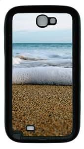 Sea Foam Close Up TPU Rubber Soft Case Cover For Samsung Galaxy Note 2 / Note II/ N7100 - Black