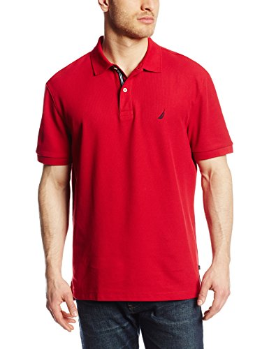 Nautica Men's Short Sleeve Solid Deck Polo Shirt, Nautica Red, XX-Large (Shirt Best Buy)
