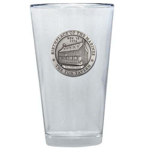 - 1pc, Pewter Marines Tun Tavern Pint Glass