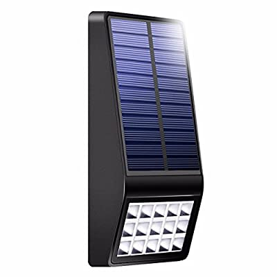 Ubeqeo Solar Led Lights Outdoor Lamp Wall Mount Accent Decorative Pathway Lighting With Motion Sensor System