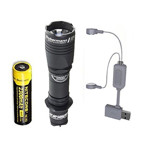 Taschenlampe mit Holster wei/ß Armytek Dobermann XP-L LED Clip /& Schlaufe - 1250 LED Lumen
