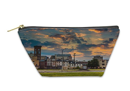 Gear New Accessory Zipper Pouch, Sunset Over The Abandoned Old Town Mall In Baltimore Maryland, Small, - Maryland Malls Baltimore