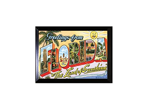 Style in Print Greetings From Florida Old Travel Poster Wall Plaque Sign 12