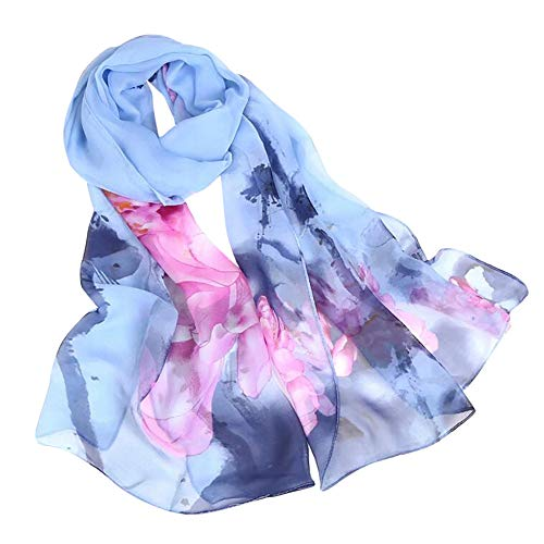 Scarves for Women Lightweight Fashion Women Roses Printing