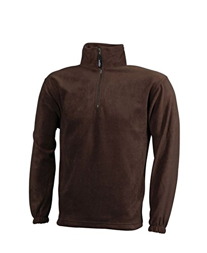 Brown Fleece Pesante In Felpa zip Sportiva Half qUvTz8