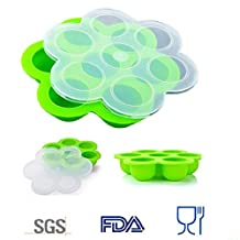 Silicone Pressure Cooker Egg Bites Molds ,Fits Pressure Cooker 5,6,8 qt Pressure Cooker, Reusable Storage Container and Baby Food container
