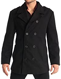 Mens Double Breasted Wool Coat