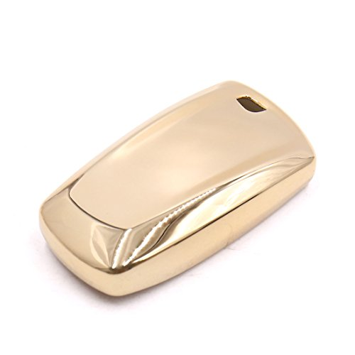 uxcell Gold Tone Remote Key Case Holder Shell Protect Housing Cover For BMW 7 Series by uxcell