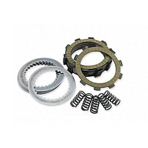 Outlaw Racing ORCS038 Kevlar Complete Clutch Repair Rebuild Kit Includes Springs Steel & Fiber Plates Steels ZX6R 1995-2004 ZZR600 2005-2008 - Clutch Friction