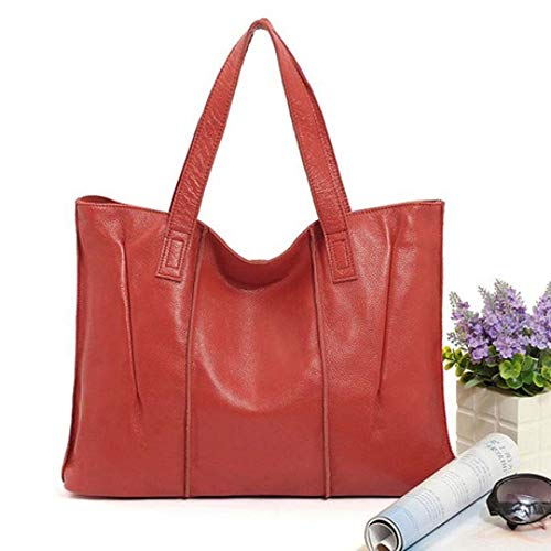 SPFBAG Leather Woman Bag Lady Handbag European and American Fashion Simple Single Shoulder Bag Large Capacity Cowhide Special Bag