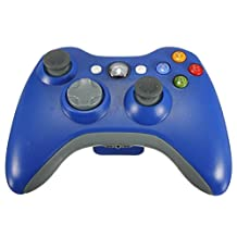 PowerLead New Wireless Remote Pad Game Controller for Microsoft Xbox 360 PC Windows 7 XP Whit Joypad(Blue)