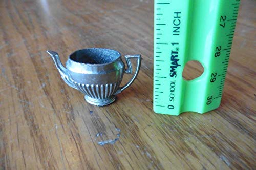 (Mini Tea pot kettle Doll house toy vintage Japan Metal maybe pewter)