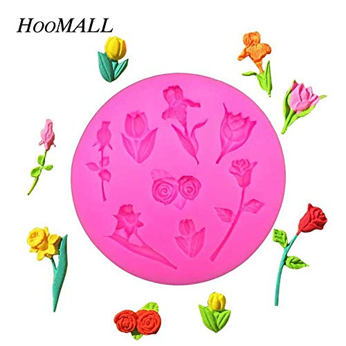 1 piece IVYSHION Silicone Cake Mold Flower Shaped Soap Mold Chocolate Fondant Cookies Mould Cake Decoration Kitchen Bakeware Accessories