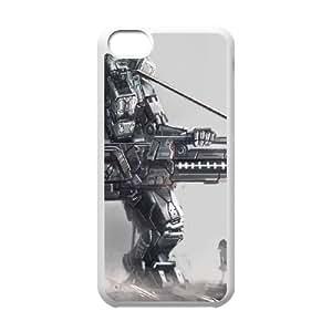 Arte Osama robot gigante Armas Silueta Chica 93,693 iPhone caja del teléfono celular 5c funda blanca del teléfono celular Funda Cubierta EOKXLKNBC08045