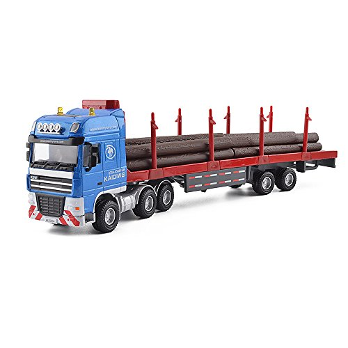 KDW 1/50 Scale Diecast Logging Truck Toys Alloy Transporter Vehicle Model 50 Diecast Vehicle