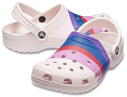 Crocs Seasonal Graphic Classic Pink Clogs Barely Multi rq7ZSrpx