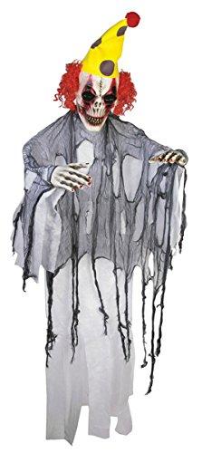 Evil Clown Poly Foam 6-ft Halloween Prop
