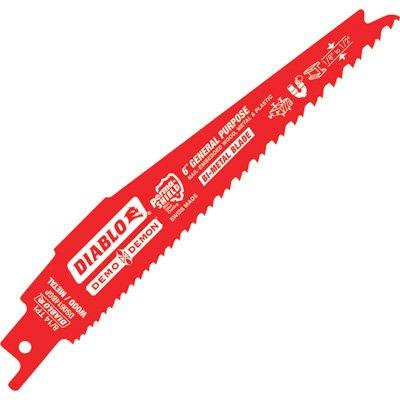 Diablo Demo Demon Reciprocating Saw Blades - 25-Pk., 6in.L, 8/14 TPI, Model# DS0614BGP25 (Blade Reciprocating Wood Purpose General)