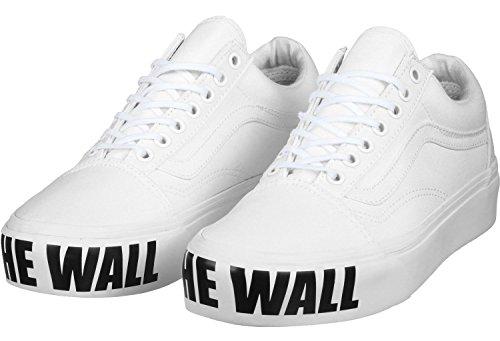 Platform para Zapatillas Old blanco Entrenamiento Vans Mujer negro de Skool qwg1nxRE