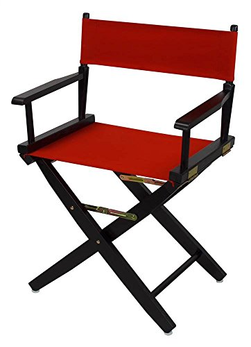 Extra-Wide Premium Directors Chair with Red Canvas by Casual Home