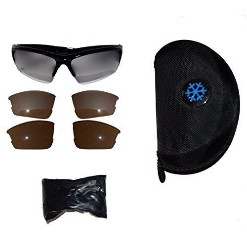 Aviation Flight Training Glasses with Frosted Interchangeable Lenses and - Aviation Glasses