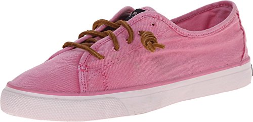 Sperry Top-Sider Women's Seacoast Washed Canvas Sneaker, Pink Choose Size: 6 (Euro 37)