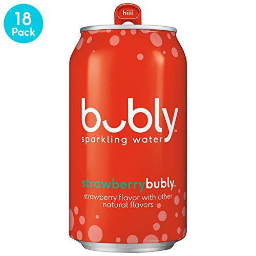 Organic Sparkling Apple - bubly Sparkling Water, Strawberry, 12 fl oz. cans (18 Pack)