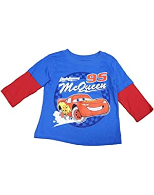 Baby Boys' Cars Infant Boys Lighting Mcqueen Long Sleeve Blue Tee Shirt