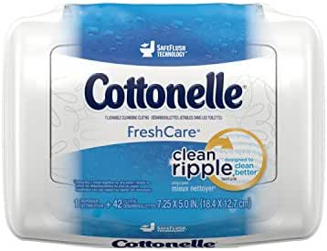 Cottonelle FreshCare Flushable Cleansing Cloths, 42 Count